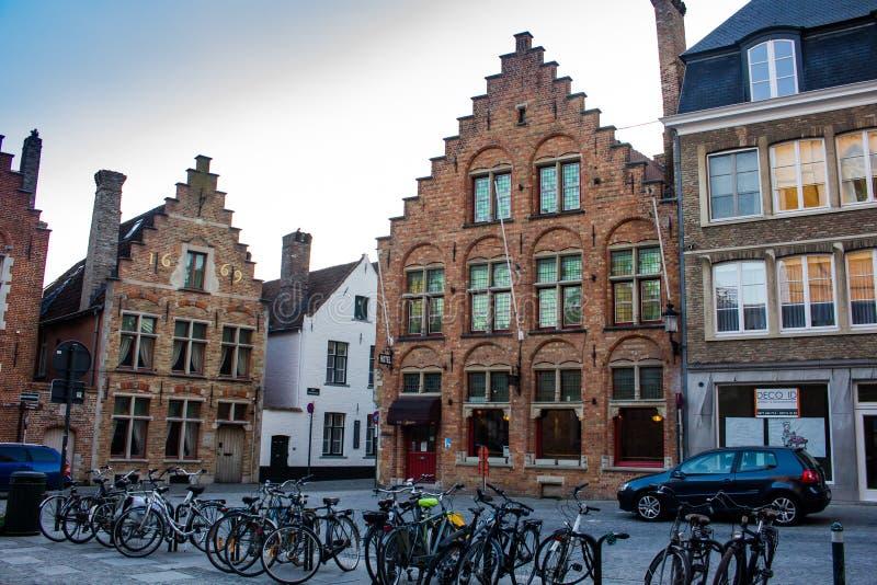 Central Square - Bruges, Belgium stock photos