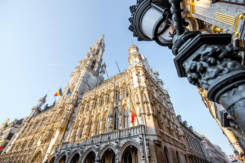 Central square in Brussels city royalty free stock images