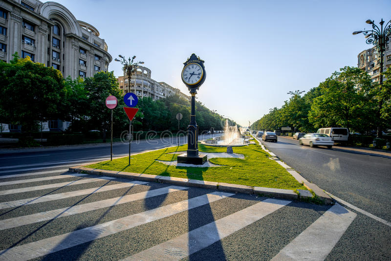 Central square in Bucharest stock images