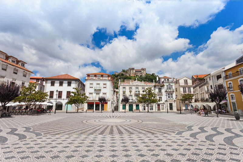 Central square, Leiria royalty free stock photography