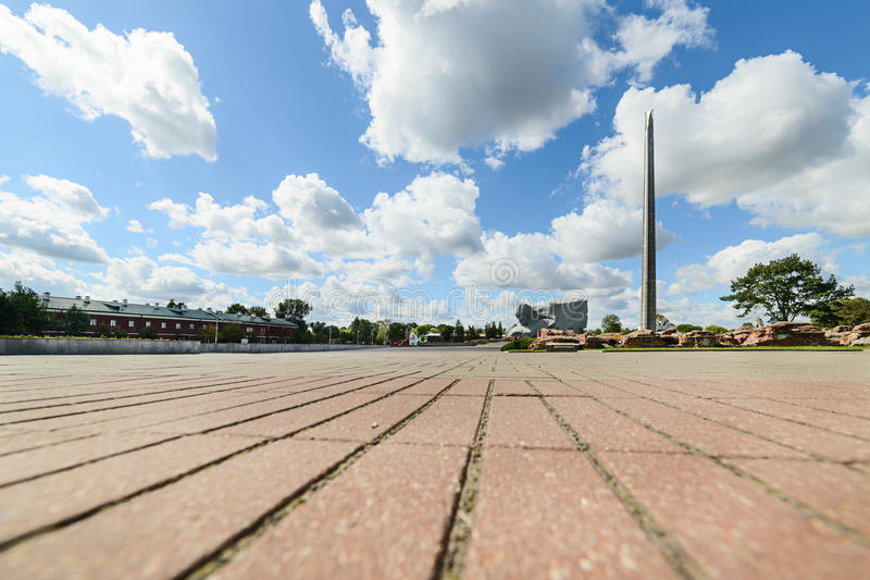 Central square of the memorial complex Brest Fortress. stock photos