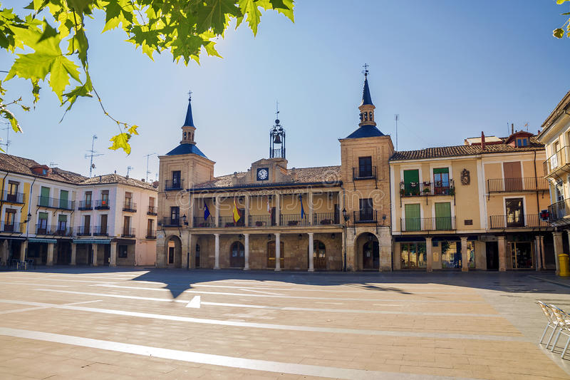Central square in the morning, Osma, Spain.  royalty free stock photos