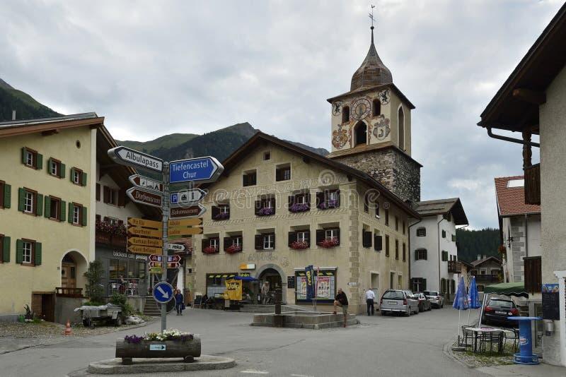 Bergun, Graubunden Canton, Switzerland royalty free stock photos