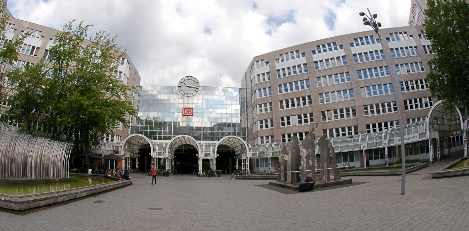 Central station Dusseldorf royalty free stock images