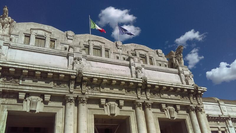 Central station in Milano  Italy covid19 royalty free stock image