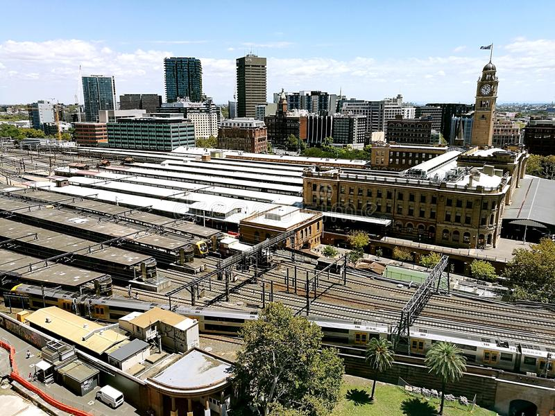 Central Station View @ Sydney City royalty free stock photos