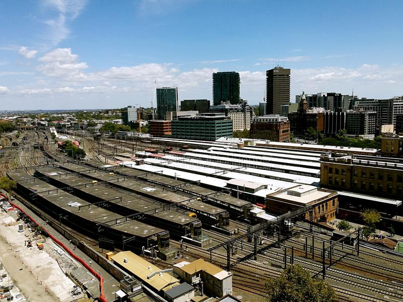 Central Station View @ Sydney City stock photography