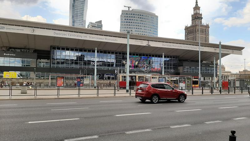 Central Station in Warsaw, Poland. Polska, centrum stock images