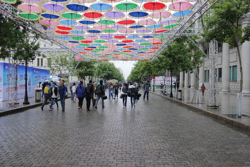 The central street. Of harbin royalty free stock image
