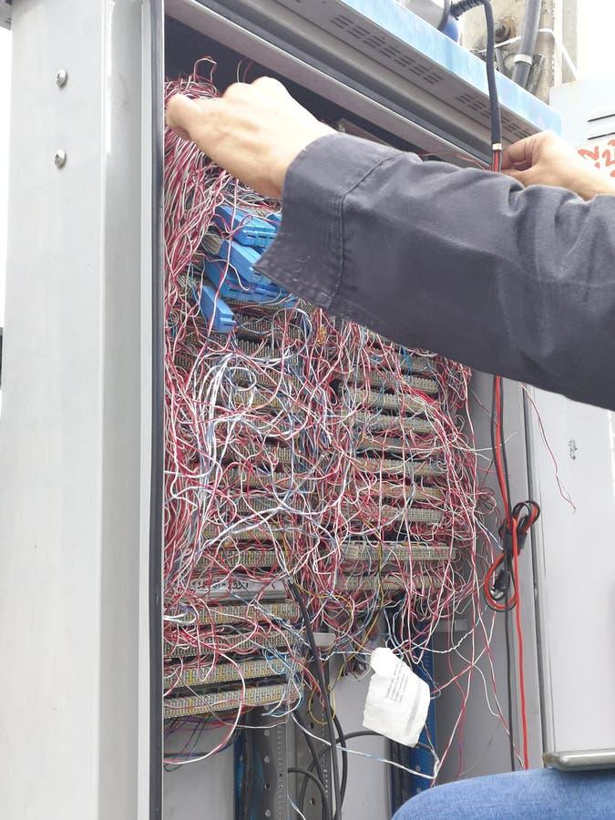 Central téléphonique à Bangkok images stock