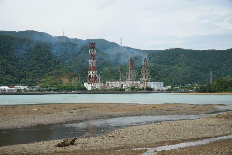 Central térmica de Tatsugo em Amami Oshima, Kagoshima, Japão fotografia de stock