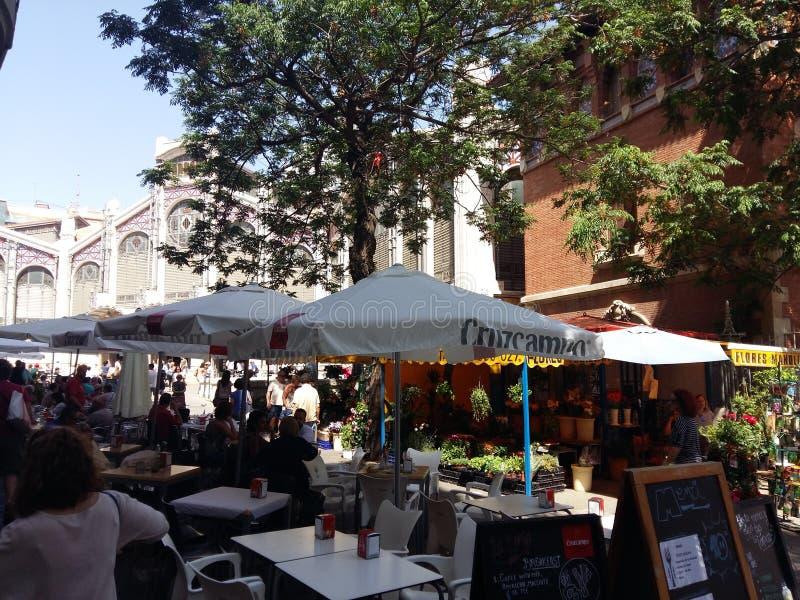 Central Valencia del mercado imagenes de archivo