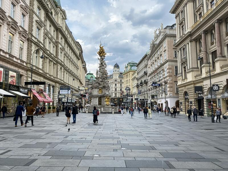 Central Vienna Am Graben royalty free stock photography