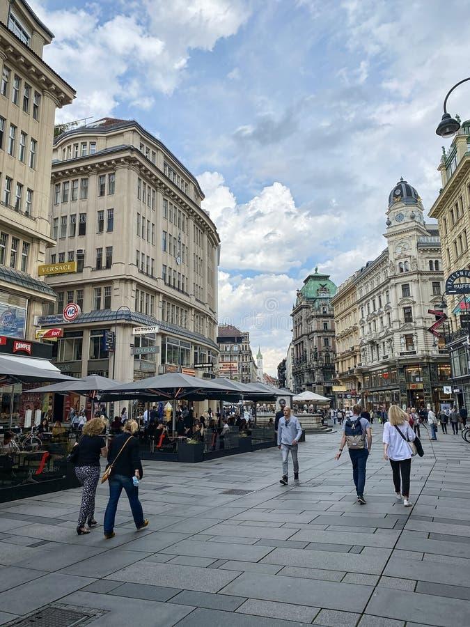 Central Vienna Am Graben stock photos