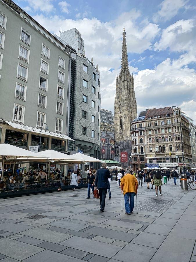 Central Vienna Am Graben stock photography