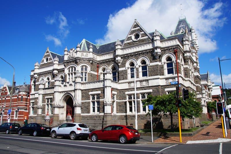 Centrala Dunedin, Nya Zeeland royaltyfria foton