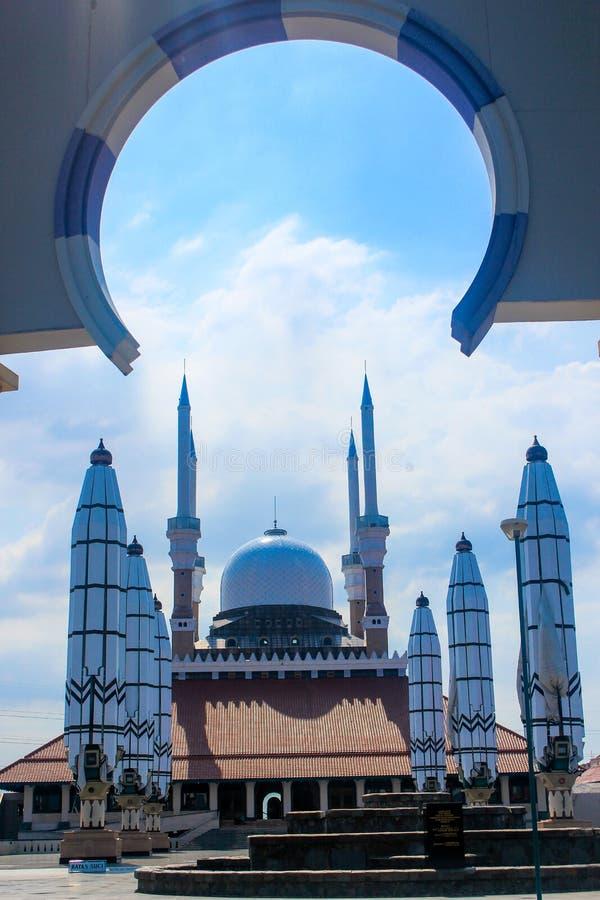 Centrala Java Grand Mosque royaltyfri fotografi