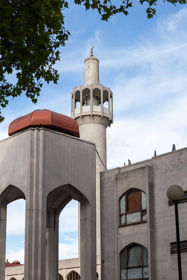 centrala regenter för london mosképark arkivfoto