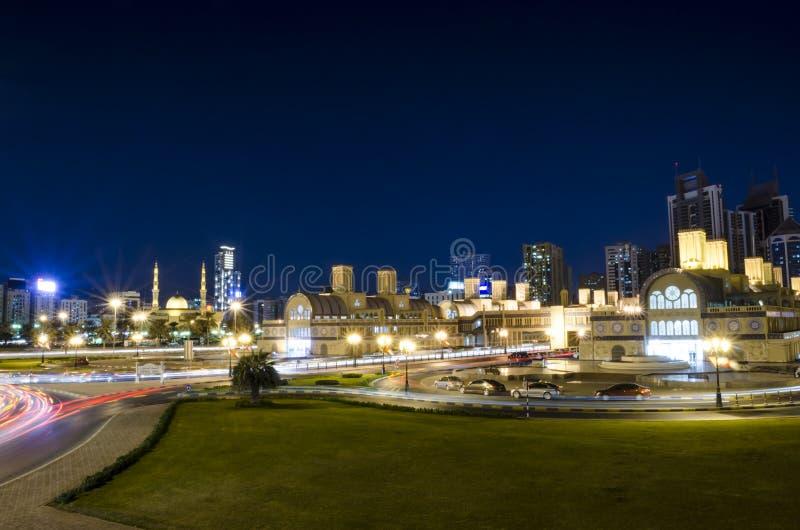 Centrala Souq Sharjah UAE arkivbilder