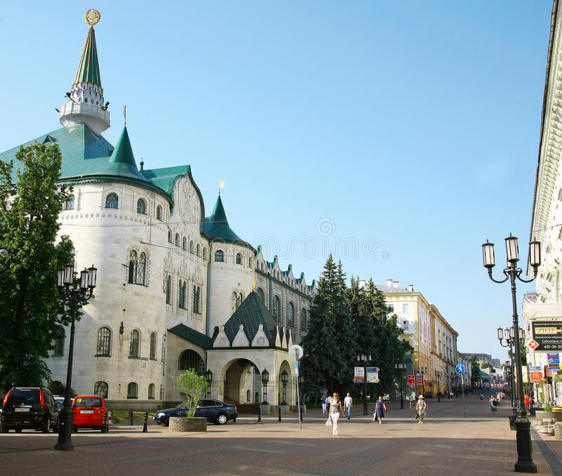 Centralbank av den Ryssland huvudkontoret Nizhny Novgorod fotografering för bildbyråer