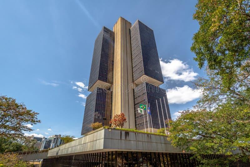 Centralbanken av Brasilien förlägger högkvarter byggnad - Brasilia, federala Distrito, Brasilien royaltyfria bilder