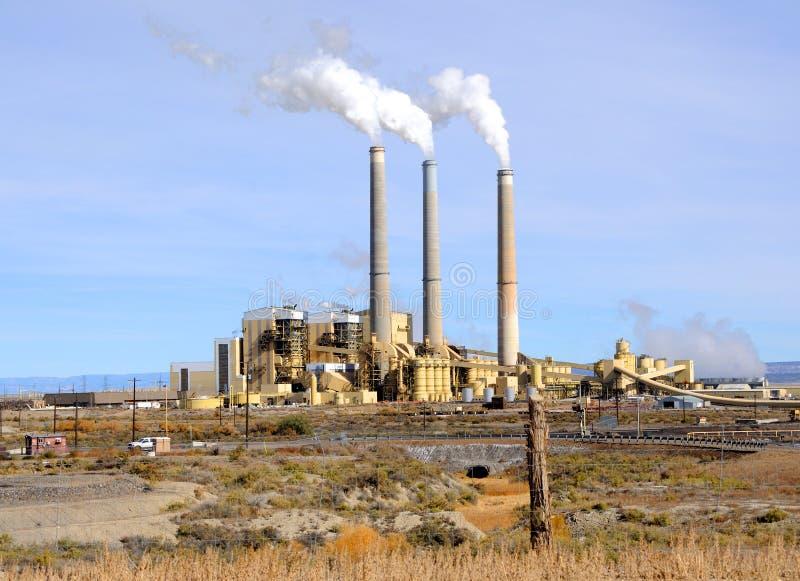Centrale à charbon photo libre de droits