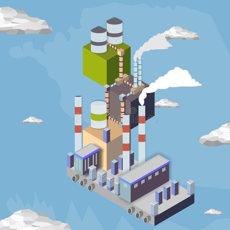 centrale à vapeur électrique photographie stock