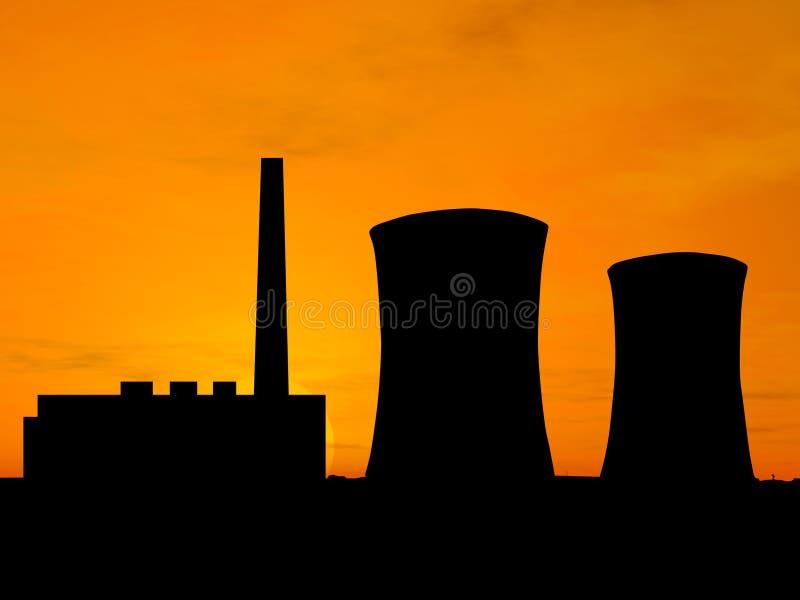 Centrale électrique illustration stock