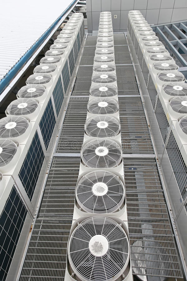 Centrale airconditioners royalty-vrije stock afbeeldingen