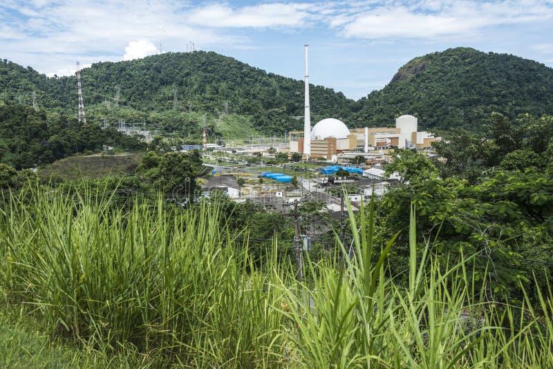 Centrale atomica di Angra, Rio de Janeiro, Brasile immagine stock