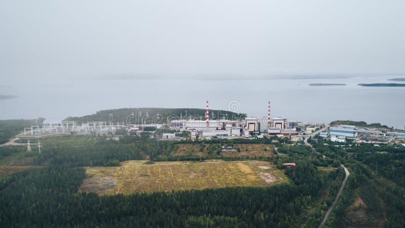 Centrale atomica fornita di reattore nucleare a fissione fotografie stock