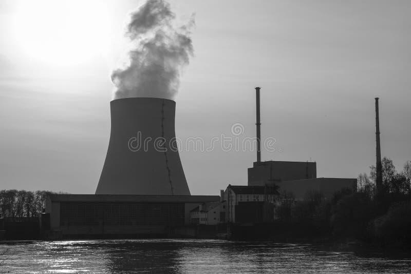 Centrale atomica Ohu, Landshut immagine stock