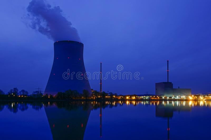 Centrale atomica Ohu, Landshut fotografie stock libere da diritti