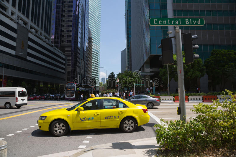 Centrale Boulevard in Singapore stock afbeeldingen