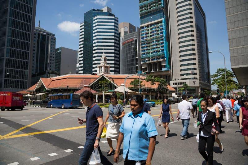 Centrale Boulevard in Singapore royalty-vrije stock fotografie