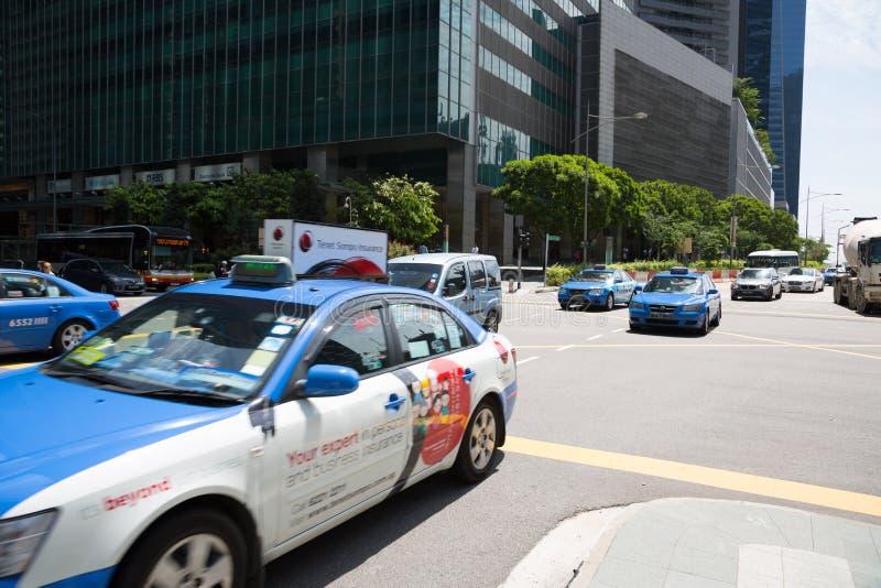 Centrale Boulevard in Singapore stock fotografie