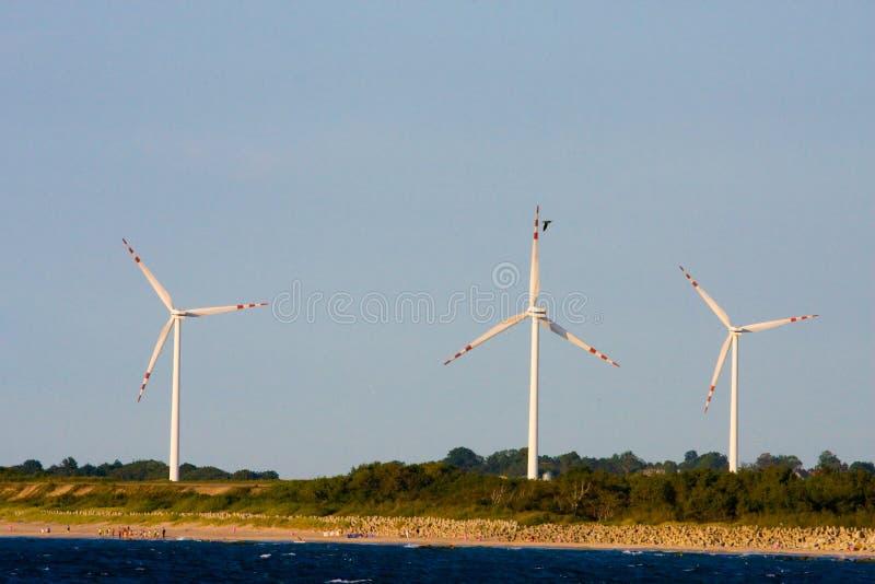 Centrale d'énergie éolienne photos libres de droits