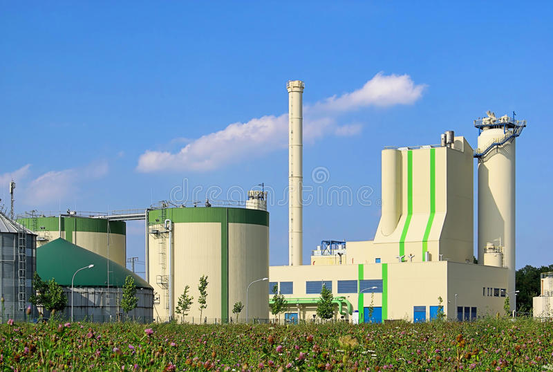 Centrale de biogaz photos stock