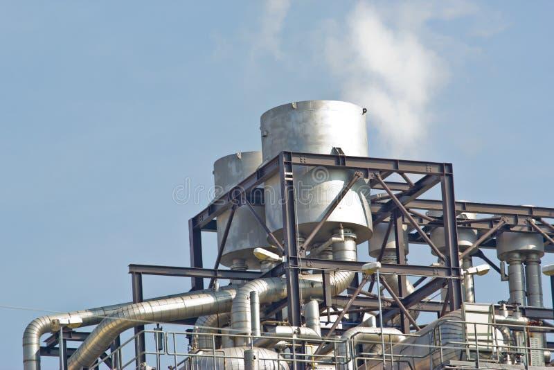 Centrale de cycle combiné de gaz naturel images libres de droits