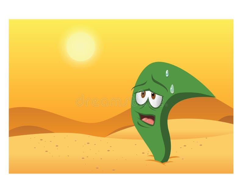 Centrale de désert illustration de vecteur