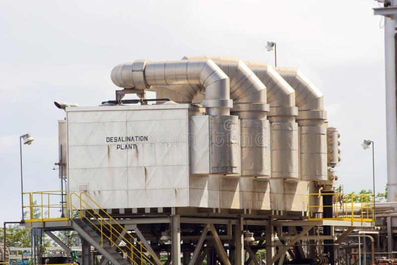 Centrale de dessalement photo stock