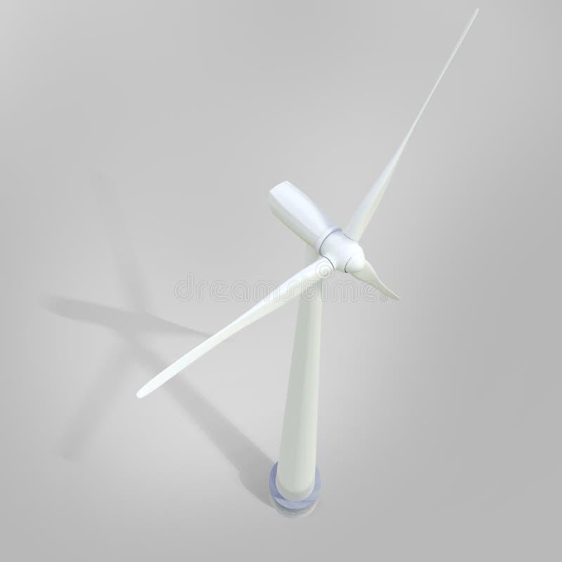 Centrale de générateur de moulin à vent illustration de vecteur