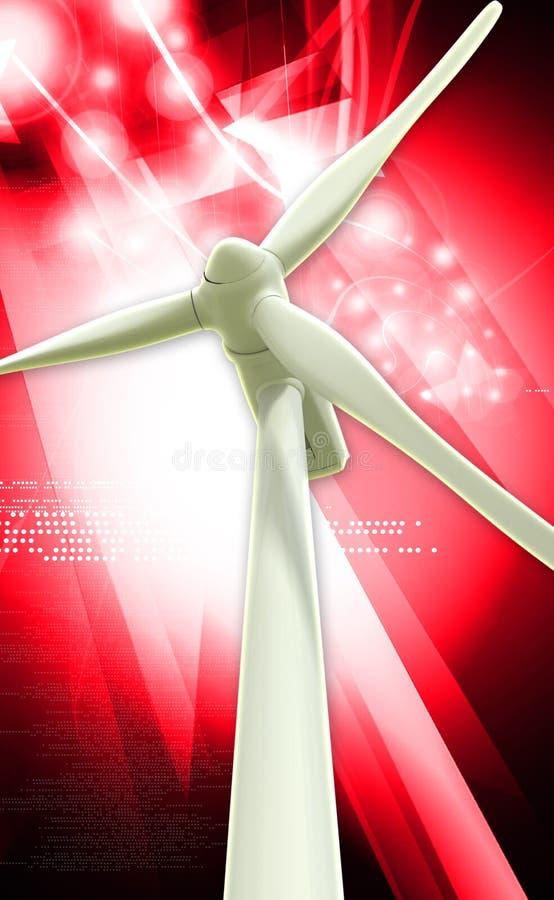 Centrale de générateur de moulin à vent illustration stock