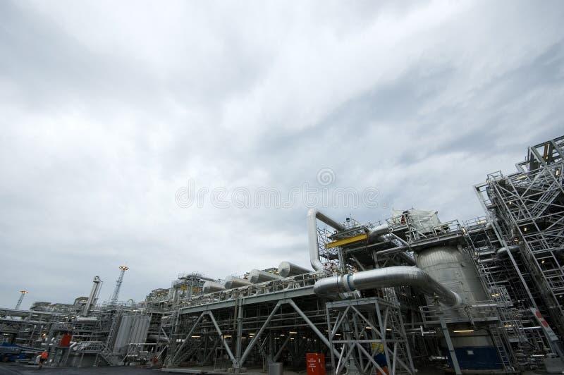 Centrale de gaz image libre de droits