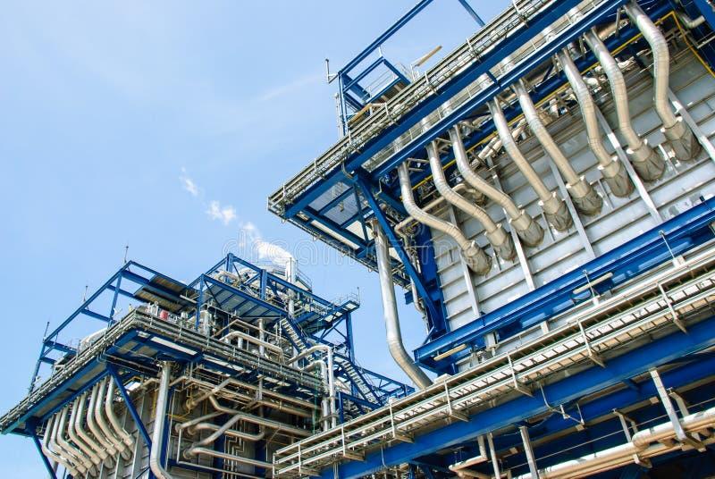Centrale de gaz naturel images libres de droits