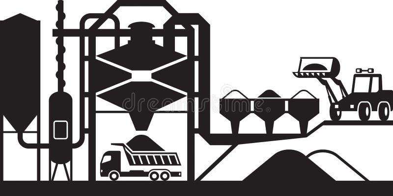 Centrale de malaxage d'asphalte illustration stock