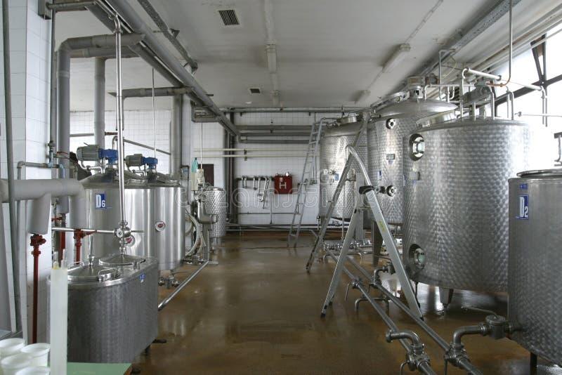 Centrale de production alimentaire de laiterie photos libres de droits