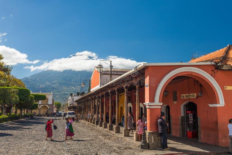 Centrale di Parque, Antigua Guatemala fotografie stock