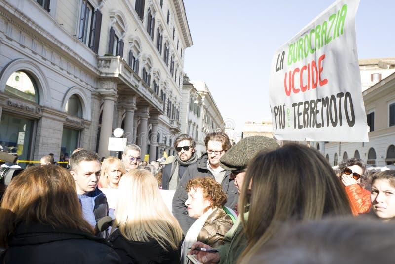 Centrale di terremoto di dimostrazione dell'Italia fotografia stock libera da diritti