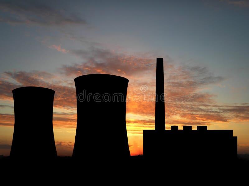 Centrale elettrica illustrazione di stock